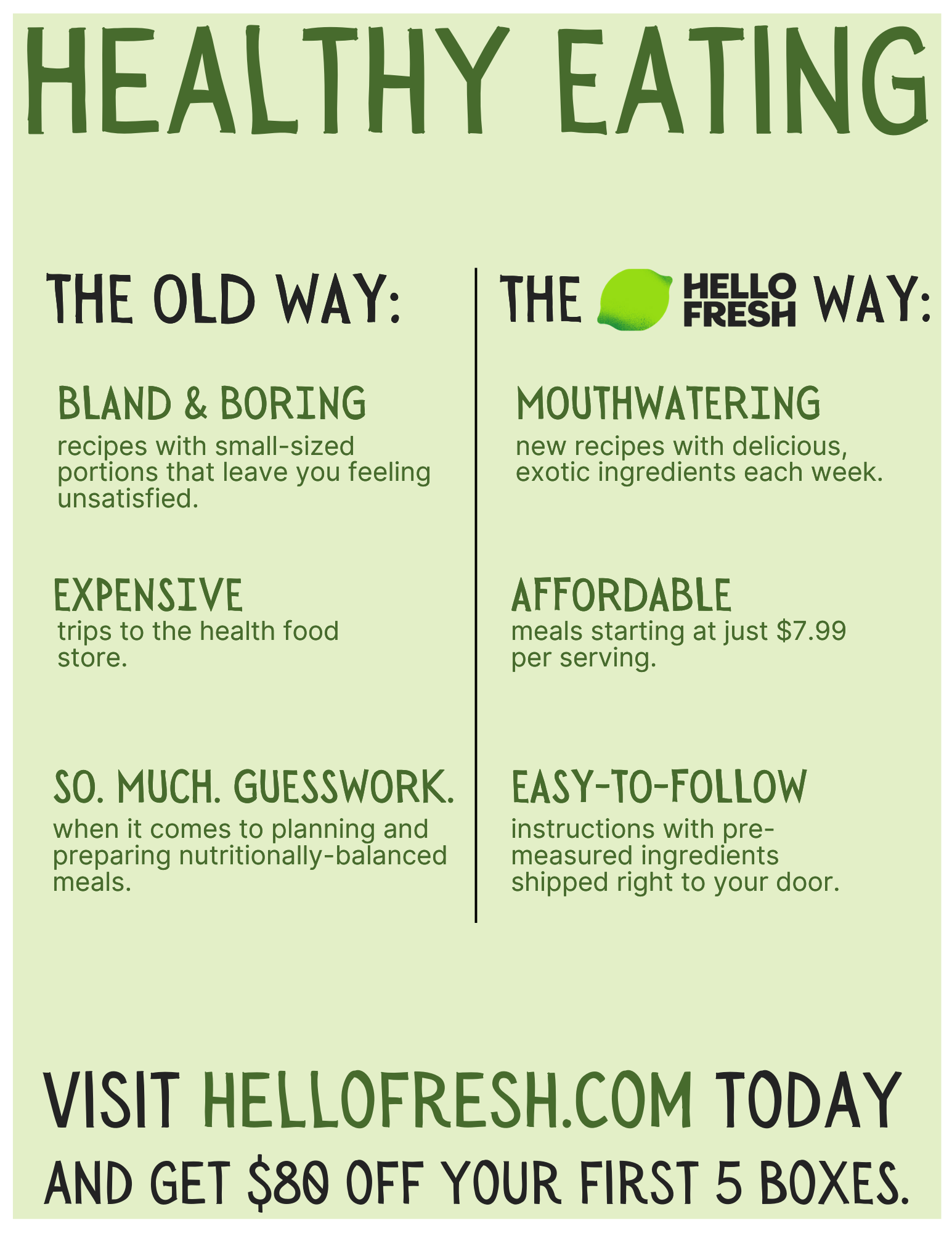 HelloFresh - Print Ad Copy - Healthy Eating