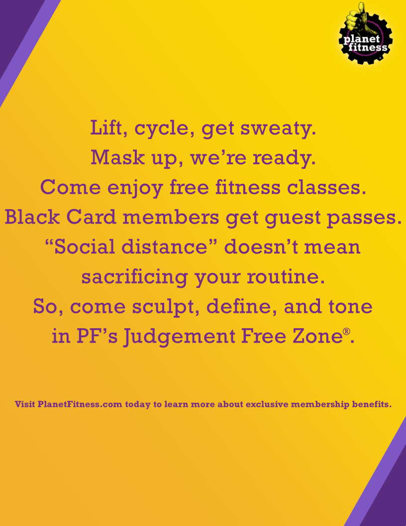 Planet Fitness Print Ad