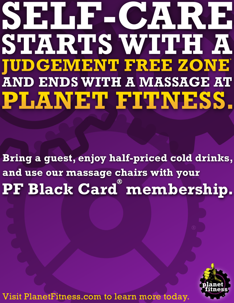 Self Care Starts With Planet Fitness - Print Ad